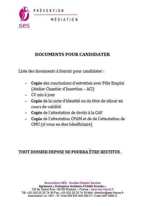 Liste doc recrutement 1
