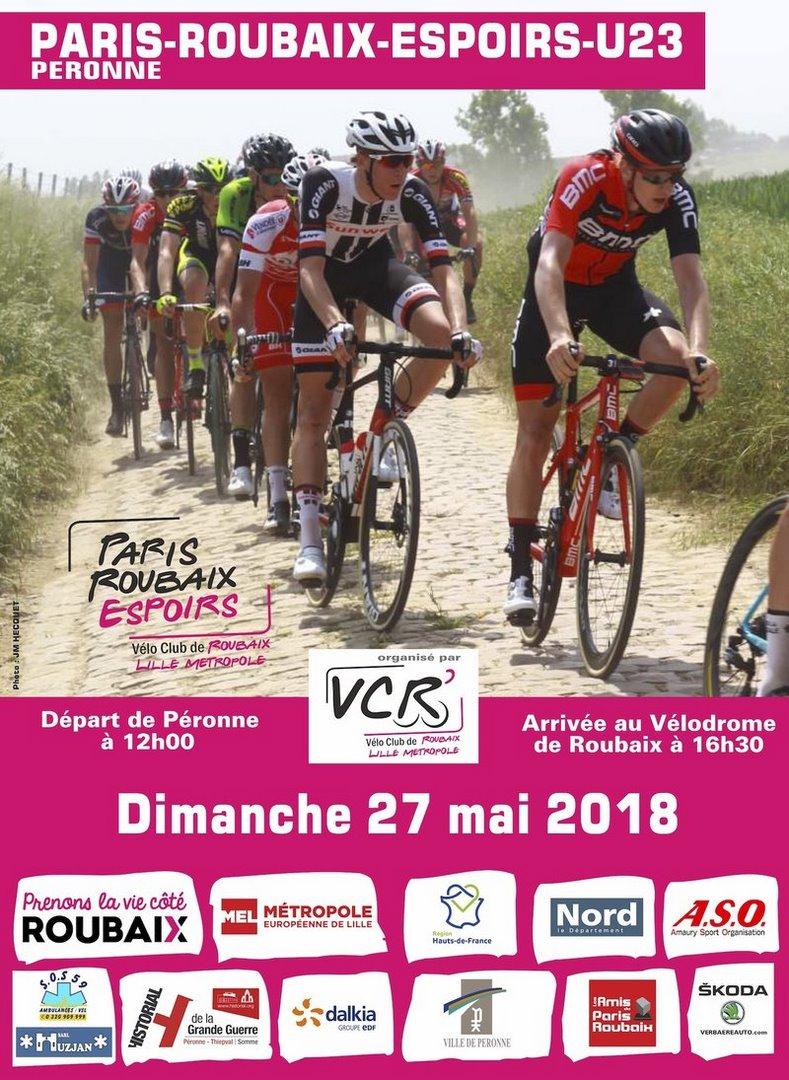 Paris roubaix espoirs u23 2018 affiche